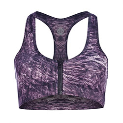 Vie Active Lava Zip Sports Bra