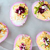 Pretty-in-Pink Deviled Eggs