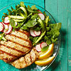Grilled Pork with Shaved-Asparagus Salad