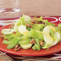 Celery Salad with Apples, Walnuts, and Mustard Vinaigrette