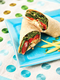 Mediterranean wrap sandwich