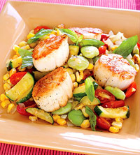 Succotash with Scallops