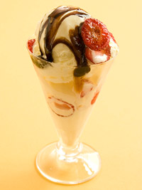 Sauteed Strawberry Sundae