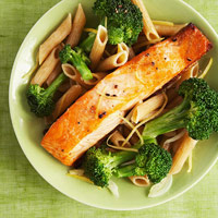 Lemon Butter Salmon & Broccoli Penne