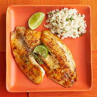 Sauteed Baja Fish With Thyme Brown Rice