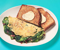 Spinach & Bacon Omelet