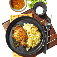 Seared Pork Chops With Orange-Chipotle Glaze
