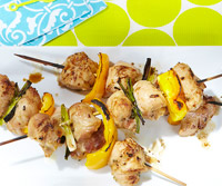 Mustard-Rosemary Chicken Skewers