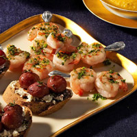 Shrimp Skewers with Parsley Oil