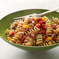 Spicy Sausage-and-Pepper Pasta