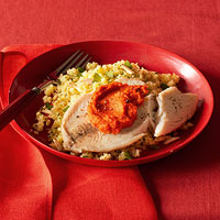 Broiled Fish with Romesco Sauce and Couscous