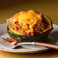 Sausage-and-Quinoa-Stuffed Acorn Squash