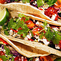 Spicy Black Bean Tacos with Tangy Slaw