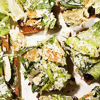 Chicken Caesar Salad Pizzas