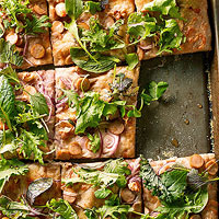 Maple-Walnut Pizza with Chicken Sausage