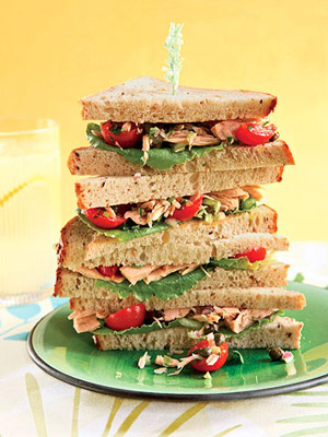 spicy tuna salad sandwich