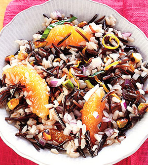 Orange-Pistachio Wild-Rice Salad