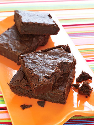 Big Fudgy Bittersweet Brownies