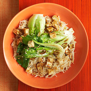 Stir-Fried Sesame Tofu With Baby Bok Choy