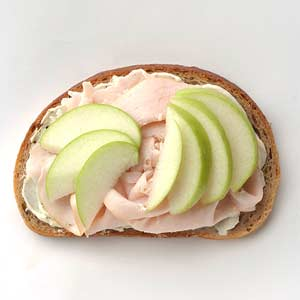 Turkey, Green Apple and Brie sandwich