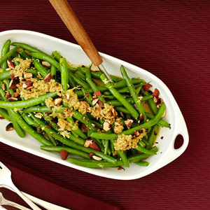 Green Beans With Olive-Almond Relish