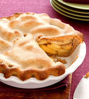 Apple Pie With Walnut Crust