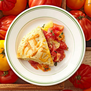 Tomato Cobbler With Cornmeal-Cheddar Biscuits | Fitness Magazine