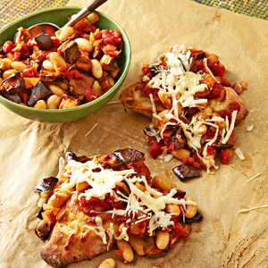 Dinner Bruschetta with Eggplant Ragu