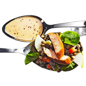 Chicken Sausage Salad With Lentils and Green Apple