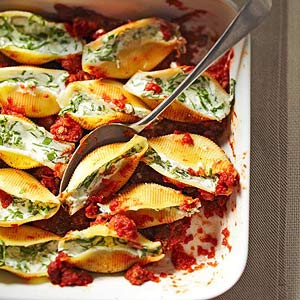 Spinach-and-Ricotta-Stuffed Shells