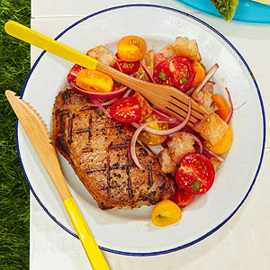 Pork Chops with Panzanella