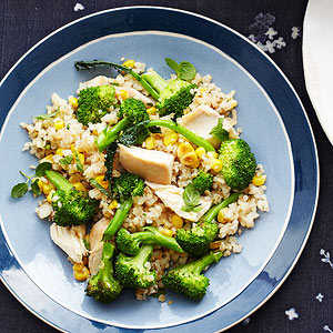Ginger, Chicken and Broccoli with Bulgur recipe