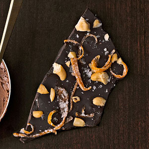 Dark Chocolate Cashew Bark With Candied Grapefruit