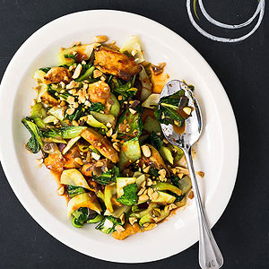 Spicy Chicken and Bok Choy Stir-Fry | Fitness Magazine