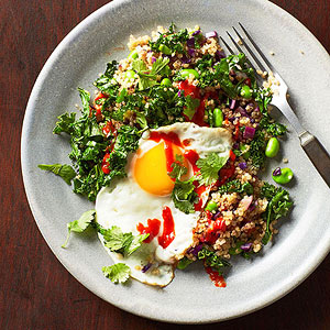 Edamame and kale fried quinoa - edamame recipes for your inspiration