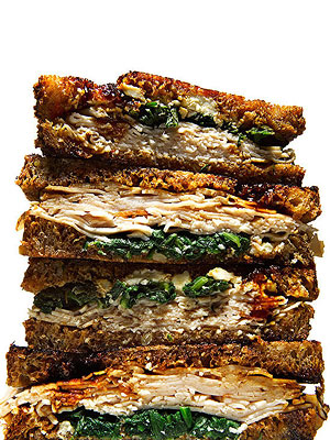 Turkey, Arugula and Goat Cheese Panini