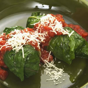 Stuffed Chard with Fresh Marinara