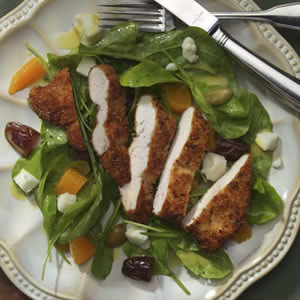 Warm Salad with Chicken Paillards & Chevre