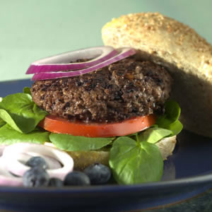 Blueberry-Beef Burgers
