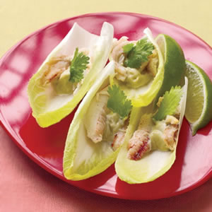 Wasabi Crab on Endive