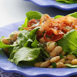 Warm Bean & Arugula Salad