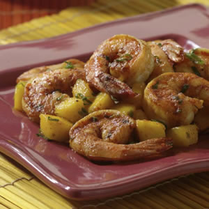 Shrimp with Mango & Basil