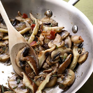 Garlic-Rosemary Mushrooms