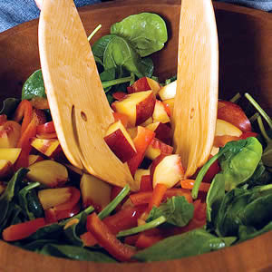Baby Spinach Salad with Raspberry Vinaigrette