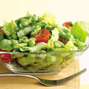 Green Salad with Asparagus & Peas