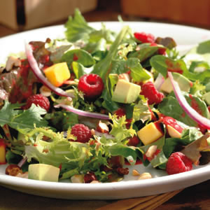 Raspberry, Avocado & Mango Salad