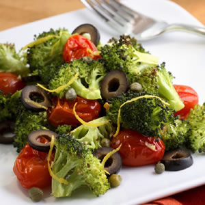 Mediterranean Roasted Broccoli & Tomatoes