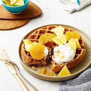 Coconut-Lime Waffles with Tropical Fruit | Fitness Magazine
