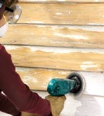 Sand Off Loose Paint With A Power Sander