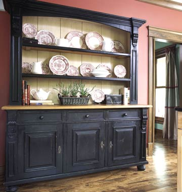 Large hutch with storage